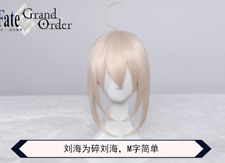 Fate Stay Night Saber alter Black Cos Silver Cosplay Wig Hair