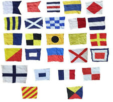"Set of 26 Nautical Signal Flags Letters A  to Z  Approx. 12"" x 8"" Cloth"