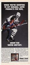 1984 Wayne Gretzky 'Cosom' Floor Hockey Stick Print Advertisement