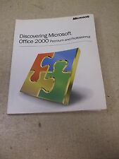 Microsoft Discovering Office 2000 Premium and Professional X03-8 0039