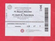 ORIG. TICKET UEFA CUP 2007/08 il Bayern Monaco-ZENIT St. Petersburg 1/2 finale