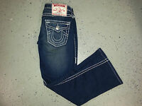True Religion Joey Super T Jeans  Thick Stitch Size 28x27 Free Shipping