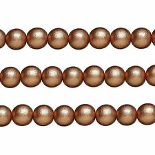 Wood Round Beads Copper 8mm 16 Inch Strand