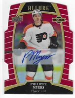 2019-20 ALLURE PHILIPPE MYERS RED RAINBOW AUTO RC #79 PHILADELPHIA FLYERS 08/349