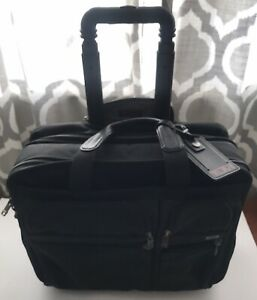 TUMI 26003D4 EXPANDABLE Rolling WHEELED DELUXE Briefcase Laptop Bag Case CARRYON