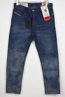 UVP 180 Diesel D-EETAR 0870I Herren W32/L32 Jeans Befleckt Ausgeblichene 9912 MM