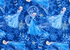 DISNEY FABRIC FROZEN  SISTERS ELSA SNOWFLAKES SPRINGS CREATIVE  FREE US SHIPPING