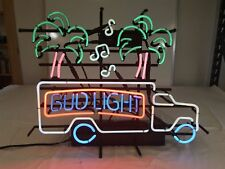 "17""x14""Bud Light Lorry Neon Sign Light Store Open Beer Bar Pub Wall Hanging Gift"