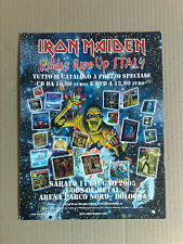 CARTONATO ADVERT IRON MAIDEN EDDIE RIPS UP ITALY  GIUGNO 2005 GODS OF METAL