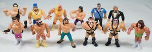 LOT 12 TITAN SPORTS WWF WRESTLERS ACTION FIGURES ANDRE GIANT HULK MACHO MAN
