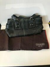 Coach black leather doctor's / satchel bag