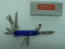Sapphire Translucent Huntsman Victorinox Swiss Army Folding Knife NIB NOS MIB