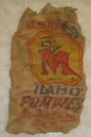 Vintage Big M Brand Idaho Potatoes Advertising Burlap Feed Sack / Bag (A11)
