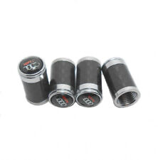 4pcs Universal Carbon Fiber Car Wheel Tire Air Valve Stem Cover Caps for Audi