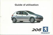 PEUGEOT 206   Guide d´utilisation 2000 Manuel du Conducteur Handbuch BA
