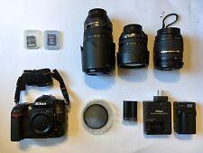 Nikon D7000 DSLR Camera - Fully Loaded Kit with Lenses, Case, Batteries