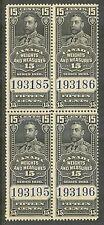 Canada #FWM62, 1930 15c King George V - Weights/Measures Revenue, B4 Unused NH