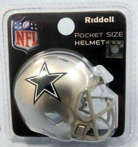 Dallas Cowboys NFL Riddell Pocket Pro Speed Mini Football Helmet