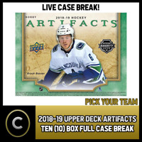 2018-19 UPPER DECK ARTIFACTS TEN BOX FULL CASE BREAK #H234 - PICK YOUR TEAM -