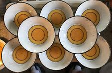 "8 Vintage Midwinter Sun Stonehenge 6.5"" dia Dessert or Cereal Bowls"