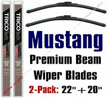 2005+ Ford Mustang Wipers 2-Pack - Premium Beam Wiper Blades - 19220/19200