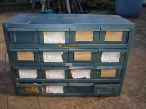 """Vintage Metal 16 Draw Storage Cabinet ,Nut/bolts etc """"ROTA CHEST OF DRAWERS"""""""