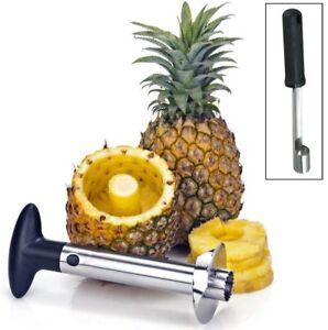 Fruit Pineapple Corer Slicer Peeler Cutter Parer Stainless Kitchen Easy Tool Kit