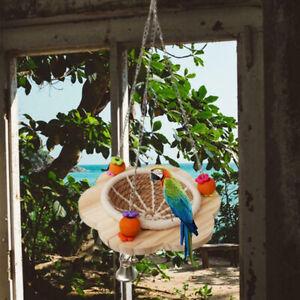 Animal Cage Bird Hanging Basket Handmade Breeding Nest Pet Toy Wood Bird Nest BB