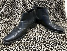 ADOLFO CARLI Black Leather Boots *Handmade In Italy* EU39 US6 *MINT CONDITION*!!