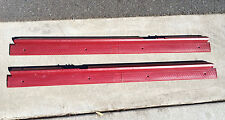 Camaro IROC Firebird Trans Am Door Sill Plates LH & RH Carmine Red 1985 to 1991