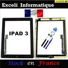 Vetro Schermo Tattile per iPad 3 nero Pulsante et Adesivo pre installato +