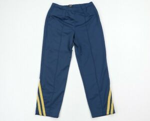 Vintage Gap Streetwear Mens Large Striped Sweatpants Pants Navy Blue Polyester