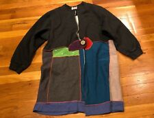 A.D.D. Gray Teal Tan Red Periwinkle Duster Long Cardigan Women's Size Petite