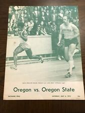 Oregon vs. Oregon State May 4, 1974 Track Program - Hayward Field - Prefontaine