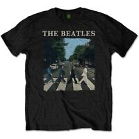 The Beatles Men's Abbey Road And Logo Short Sleeve T-shirt, Black, Large -