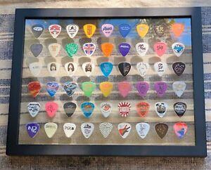 "11"" x 14"" Clear Guitar Pick Display INSERT 54 Picks- NO FRAME"