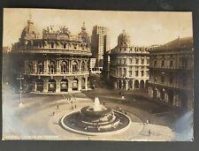 1939 Genoa Italy to Bombay India Ferrari Square RPPC Real Picture Postcard Cover