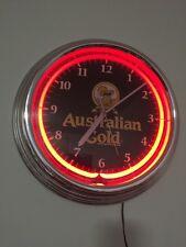 **AUSTRALIAN GOLD EXOTIC BLEND KOALA BEAR SUNTAN LOTION NEON ADVERTISING CLOCK**