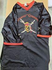 Captain Jack Sparrow Disney Pirates Of The Caribbean Jersey Men's Xxl / 2Xl Rare