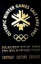 SALT LAKE CITY 2002 LOGO - Winter Olympic Poster - BLACK & GOLD LOGO