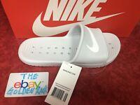 NIKE Kawa Shower Women's Slippers Slides 832655-010 White SZ 6-9 NEW