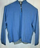 Tommy Bahama Reversible XL 1/4 Zip Soft Blue Gray Sweater 2XL plus (G3)