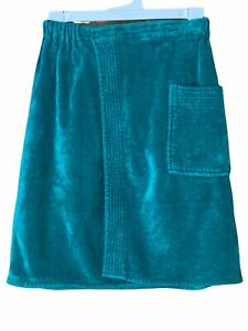 Towel Wrap Cotton Terry Cloth Hill And Archer  Vintage Teal Green