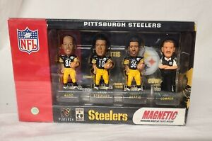 Steelers Magnetic plate Mini Bobs BOBBLE HEAD SET Cowher Ward Bettis Stewart