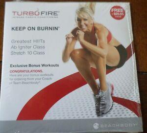 Turbo Fire Bonus DVD New Chalene Johnson Keep on Burning Greatest HIITs Ab +