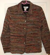 Womens COLDWATER CREEK~CARDIGAN JACKET~size SMALL~NEW Colorful TAPESTRY Blazer