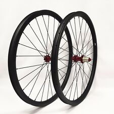 29ER carbon fiber bike wheels MTB wheels 30mm width thru axle Asymmetric rim