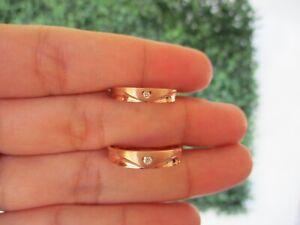 .054 CTW Diamond Wedding Ring 18K Rose Gold WR190 sep