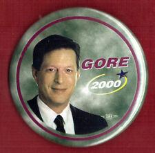 "2000 Al Gore 3"" / ""Shooting Star"" Presidential Campaign Button (Pin 02)"