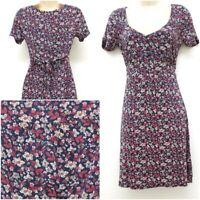 NEW RRP £39.40 Ex  Fat Face Navy-Blue Teatime Garden Floral dress